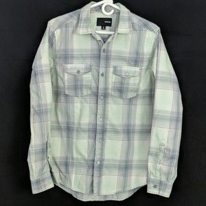 Hurley Nike Dri Fit long-sleeve button-up plaid